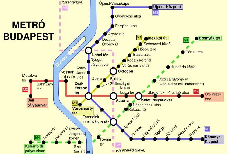Metro di budapest tram a budapest autobus a budapest - Mappa di ungheria ed europa ...